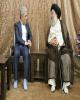 دیدار حسین زاده مدیر عامل بانک ملی ایران با آیت اله جزایری نماینده رهبری در استان خوزستان