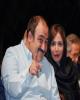 مهران غفوریان کنار همسرش پس از عمل جراحی/ عکس