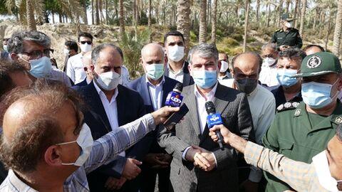 بازدید مدیر عامل بانک کشاورزی از پروژه تحول نخلستان دراستان بوشهر