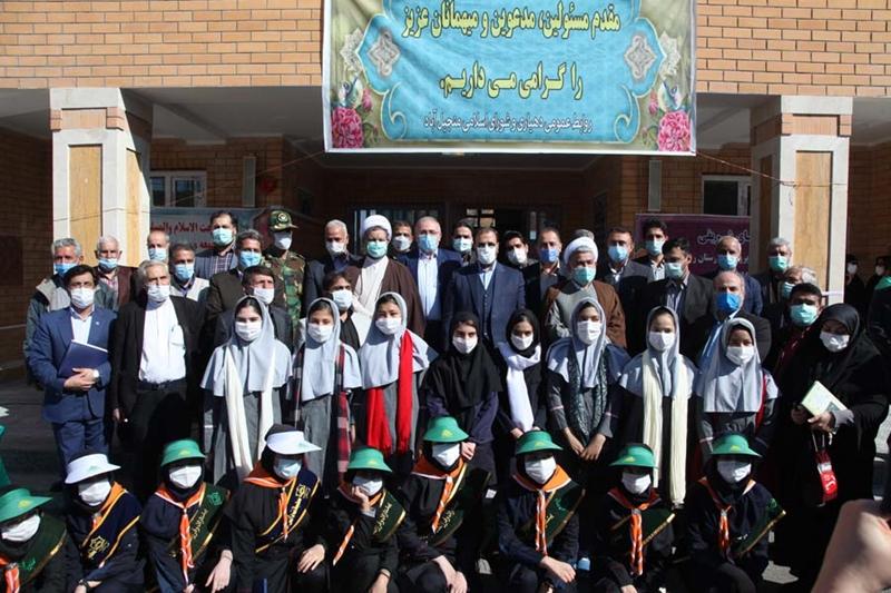 افتتاح دبیرستان دخترانه شهدای بانک رفاه کارگران دهستان منجیل آباد