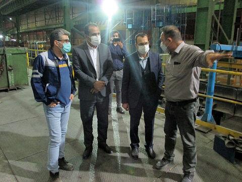 بازدید عضو هیأت مدیره بانک صنعت و معدن از چندین واحد صنعتی سمنان