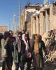 اقدام فرهنگی نیکی کریمی در مناطق زلزله زده/ عکس