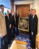 اهدای تابلو فرش دستبافت ویژه جام جهانی روسیه به رئیس فدراسیون فوتبال ژاپن