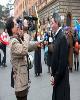 رفتار عجیب معترضان ایتالیا با حمید معصومی نژاد +عکس