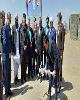 کلنگ زنی یک باب مدرسه در استان خراسان جنوبی با مشارکت بانک ملی