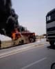 برخورد مرگبار اتوبوس با خودروی حامل سوخت قاچاق در ایرانشهر