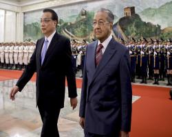 ماهاتیر خواستار کمک چین برای حل مشکلات کشورش شد